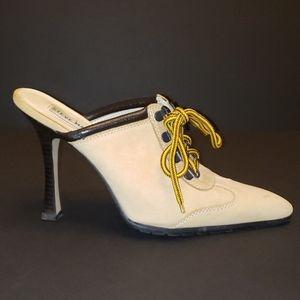 Steve Madden Hanzel Tan Nubuck Leather Heel Shoes